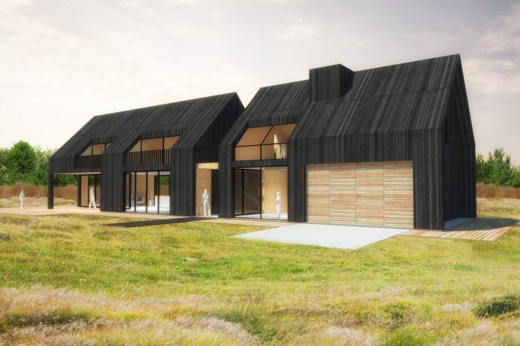 buitenaanzicht - Black House - ontwerp voor een vrijstaande gezinswoning